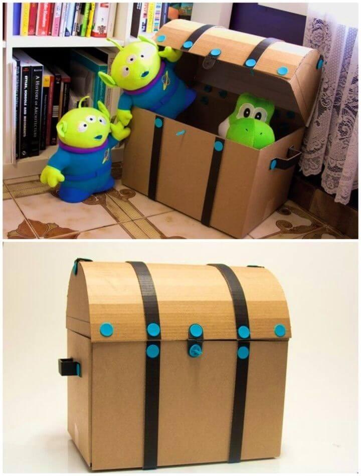 DIY Makedo Cardboard Treasure Chest