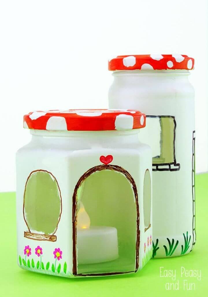 DIY Mason Jar Fairy House Craft