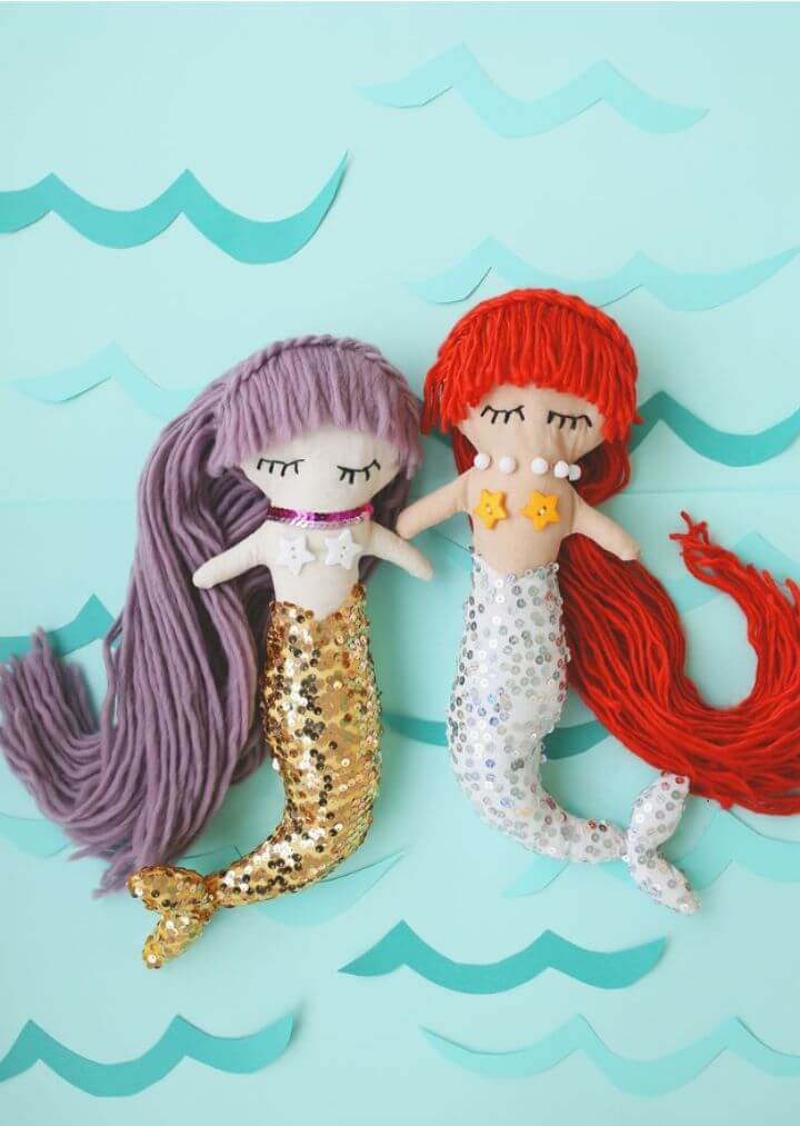 DIY Mermaid Plush Dolls Gift For Little Princess