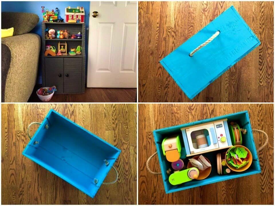 DIY Old Bathroom Vanity Toy Storage