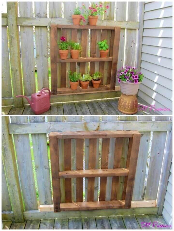 DIY One Hour Balcony Pallet Garden