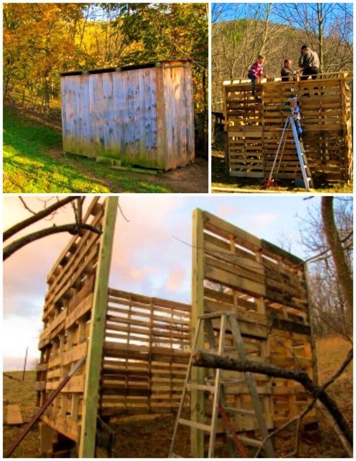 DIY Outdoor Pallet Barn for Your Livestock
