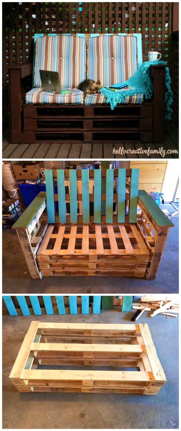 DIY Outdoor Pallet Couch Weekend Project
