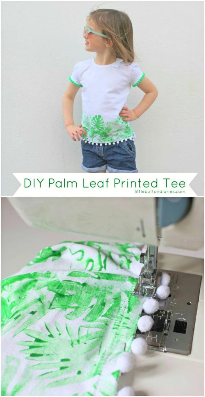DIY Palm Leaf Printed Tee