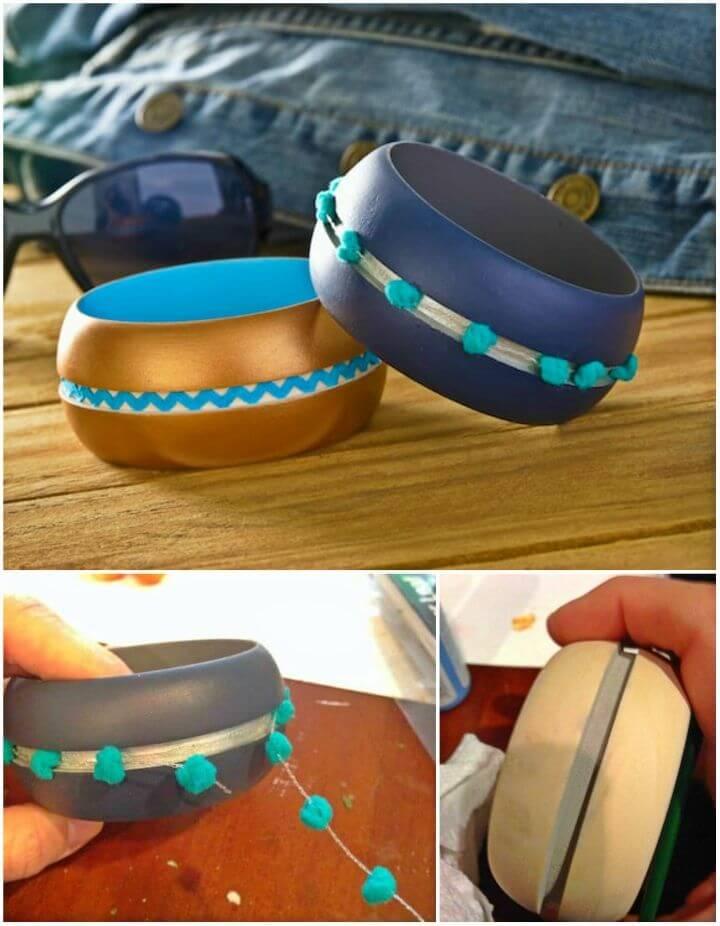 DIY Pom Pom and Ric Rac Bracelets