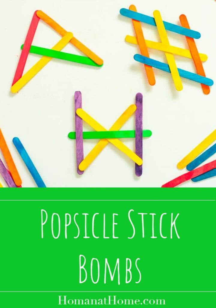 DIY Popsicle Stick Bombs