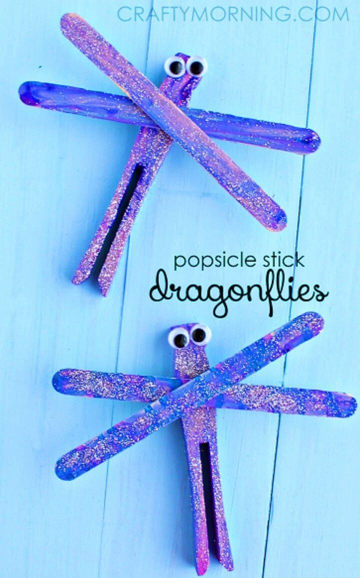 DIY Popsicle Stick Dragonfly Spring Craft for Kids