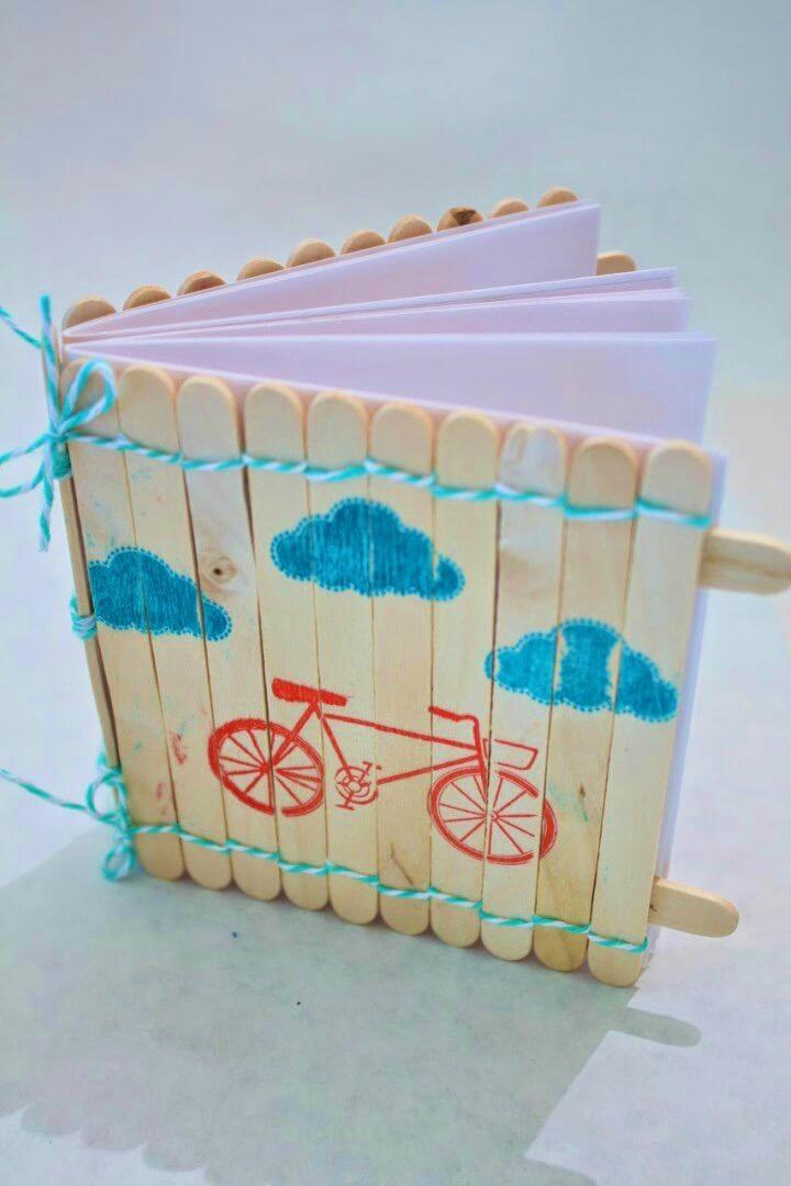 DIY Popsicle Stick Notebook