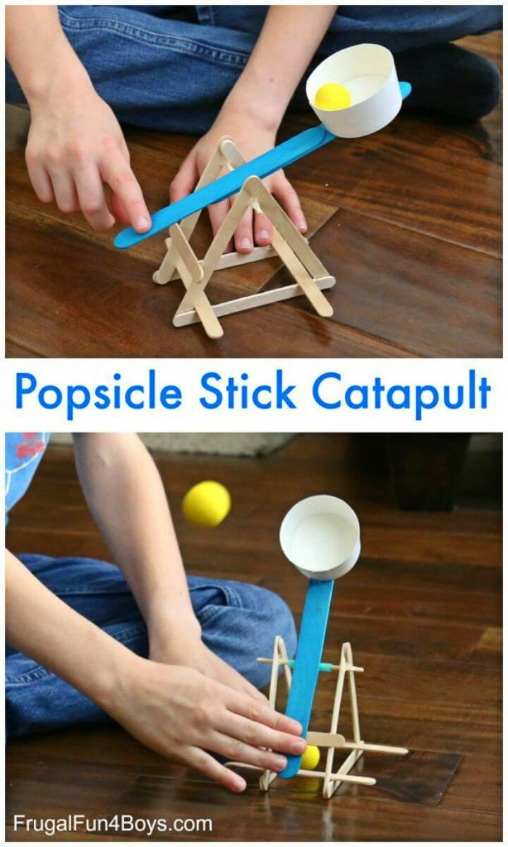 DIY Powerful Popsicle Stick Catapult
