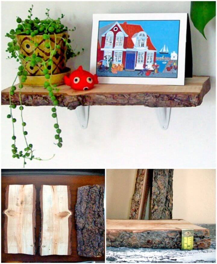DIY Rachel's Rustic Log Shelves