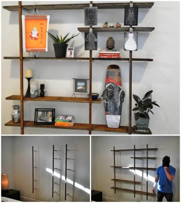 DIY Reclaimed Floating Wall Display