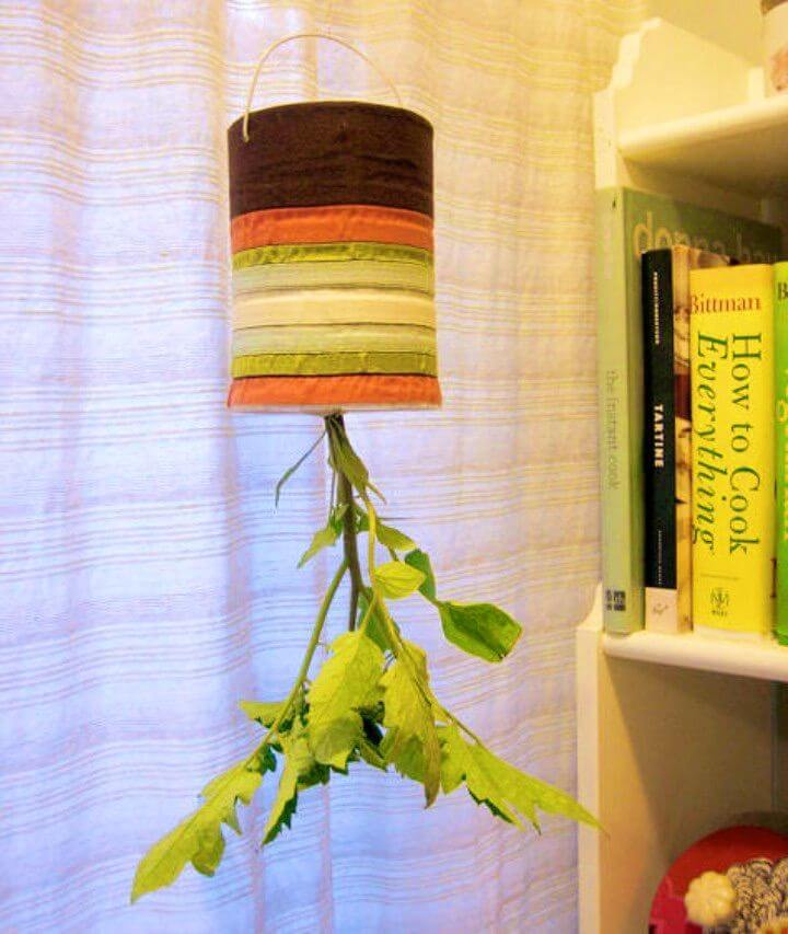 DIY Recycled Upside Down Planters