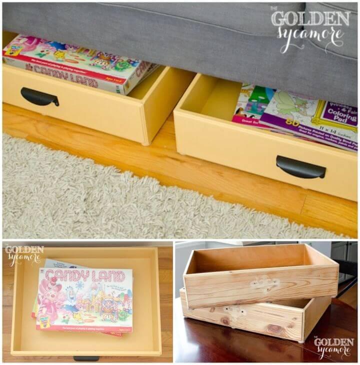 DIY Repurposed Dresser Drawers into Hidden Storage