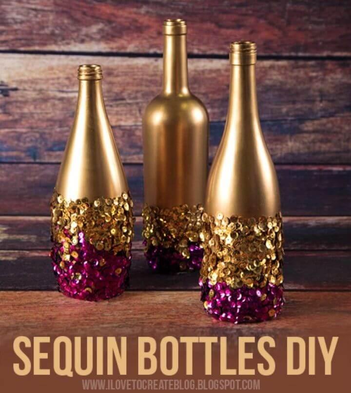 DIY Sequin Bottles