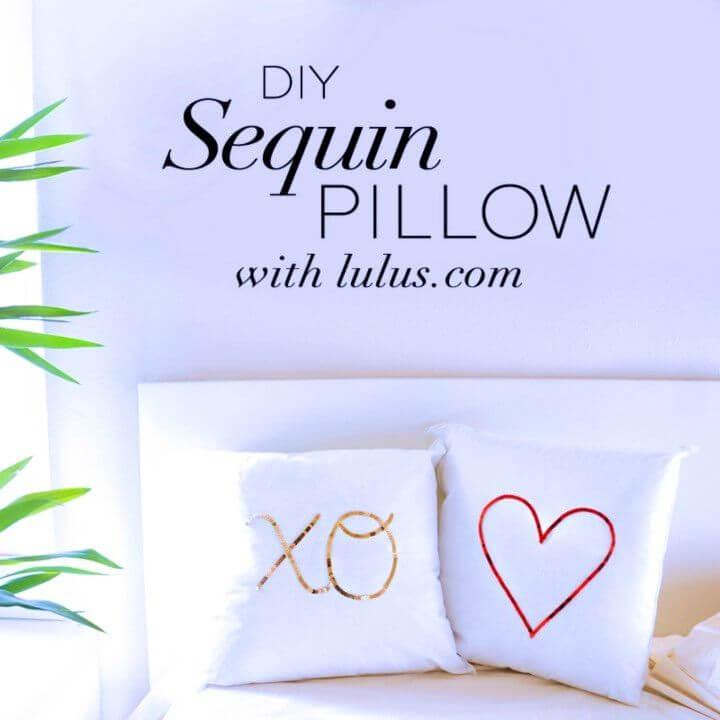DIY Sequin Pillow Unique Gift