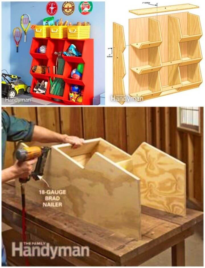 DIY Shelves and Cabinets Toy Storage
