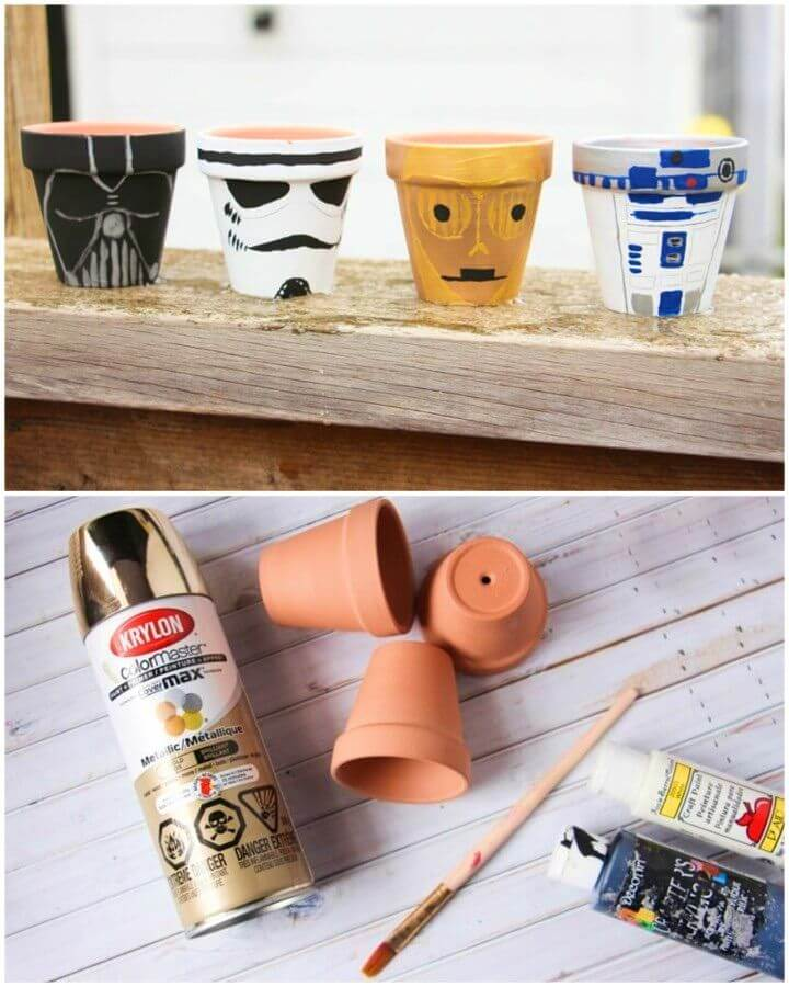DIY Star Wars Garden Pots
