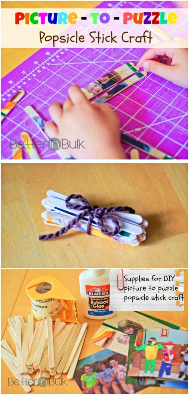 DIY Stick Puzzles Craft