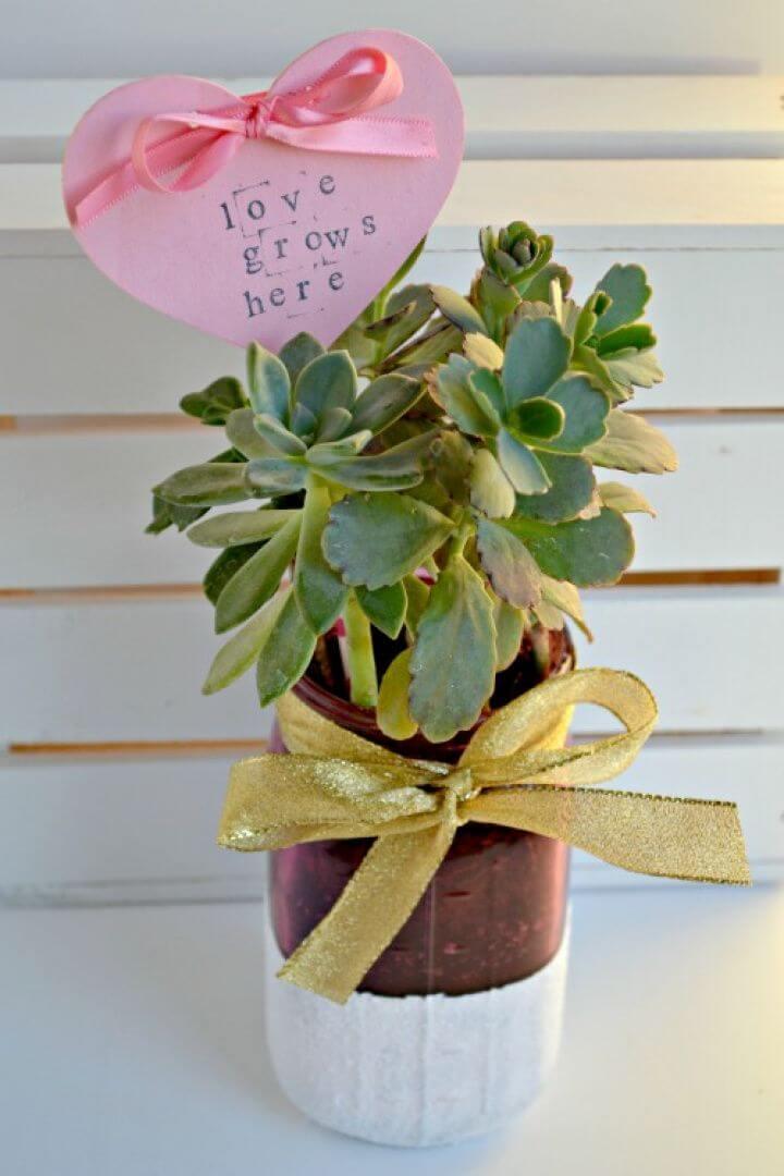DIY Succulent Planter Mason Jar Gifts
