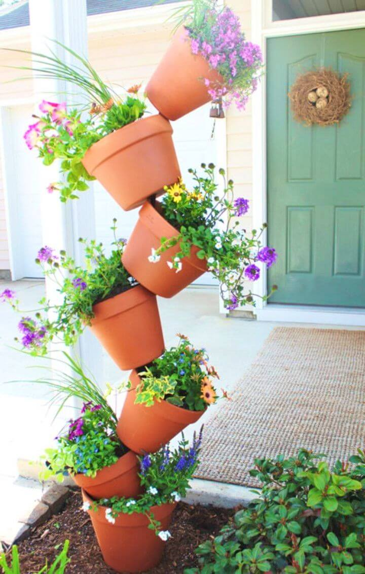 DIY Topsy Turvy Flower Planter Garden Project