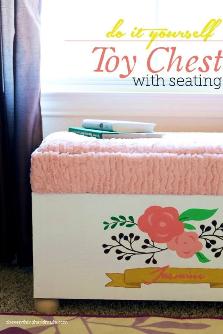 DIY Toy Chest With Seating