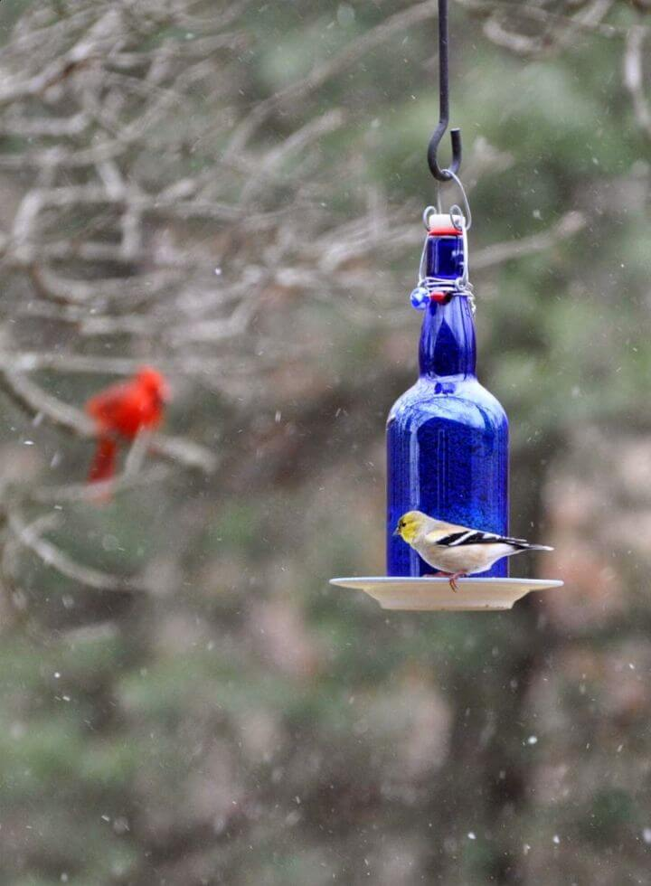 DIY Wine Bottle Bird Feeders