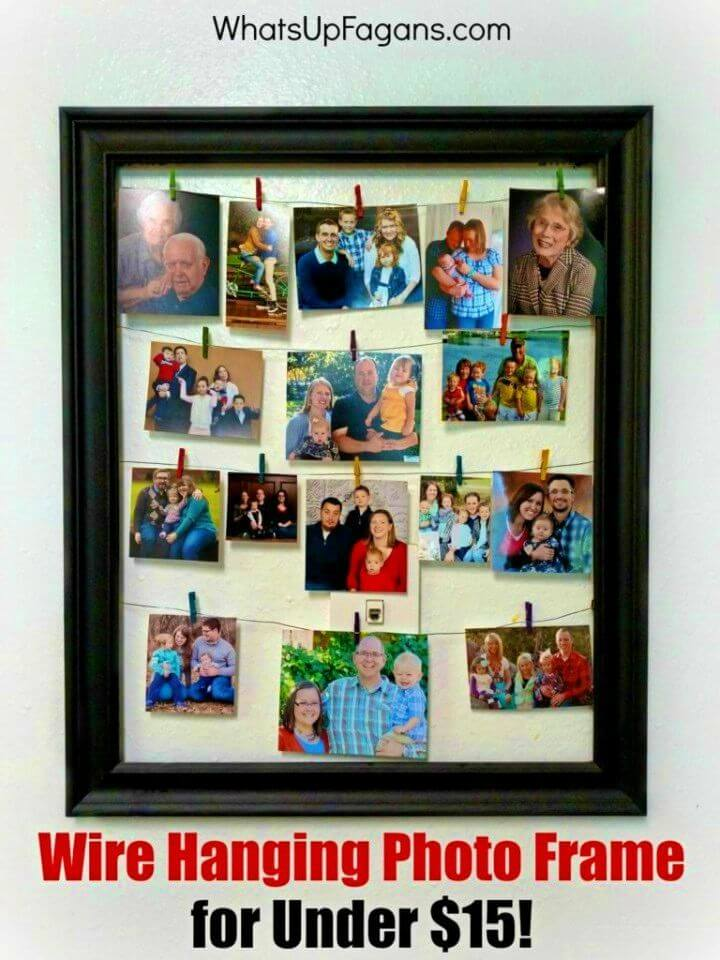 DIY Wire Photo Hanging Picture Frame for Under