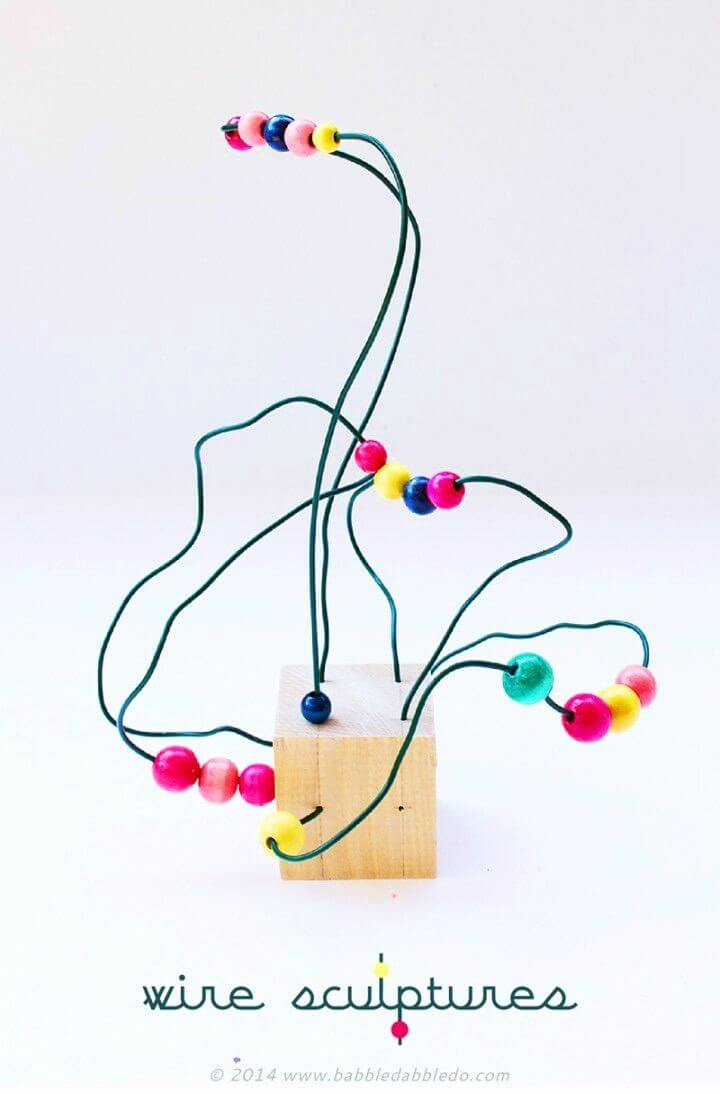 DIY Wire Sculpture Art for Kids