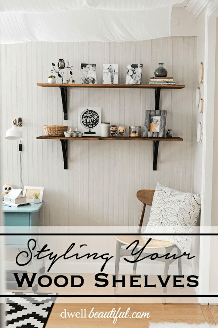 DIY Wood Shelves in The Bedroom
