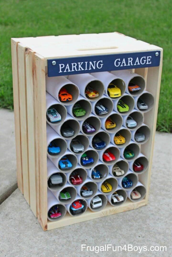 DIY Wooden Crate Storage and Display
