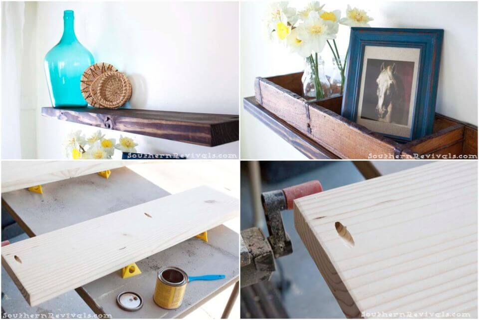Easy Cheap DIY Floating Shelves