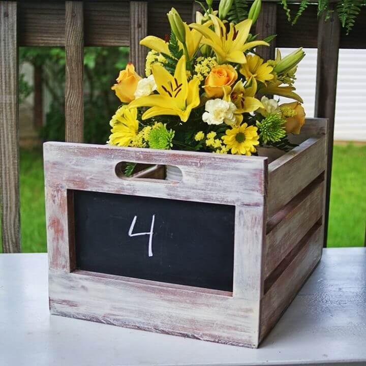 Easy DIY Chalkboard Produce Crate