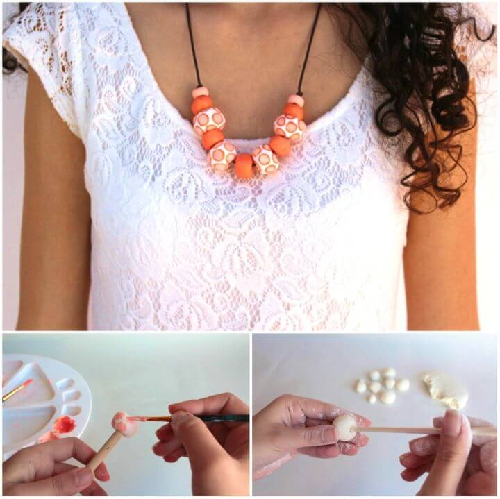 Easy DIY Clay Beads Necklace