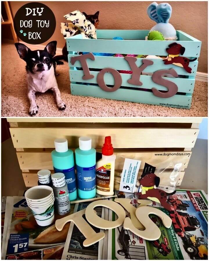 Easy DIY Dog Toy Box