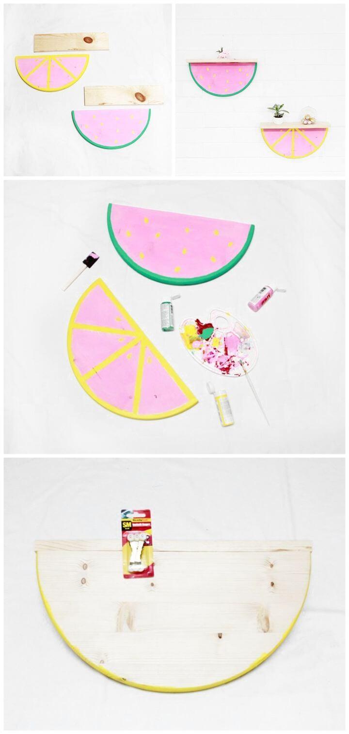 Easy DIY Fruit Slice Shelf