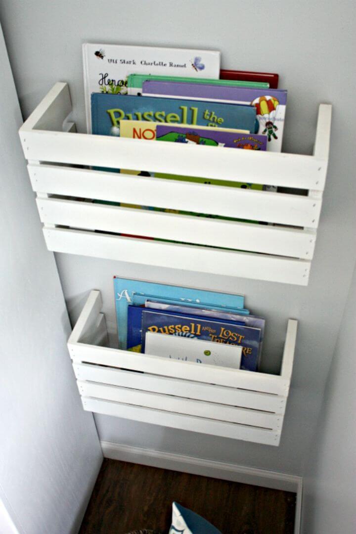 Easy DIY Great Crate Book Storage