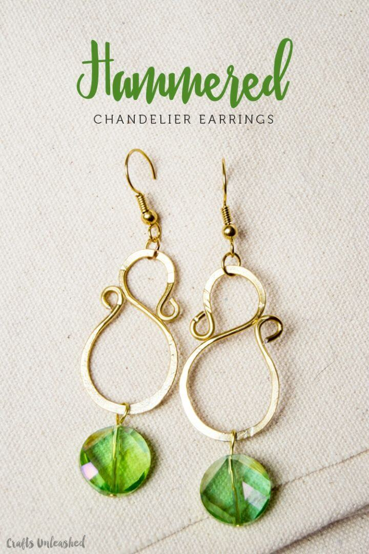 Easy DIY Hammered Chandelier Earrings