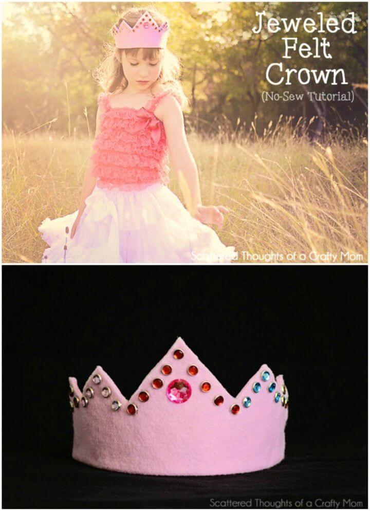 Easy DIY Jeweled Felt Crown
