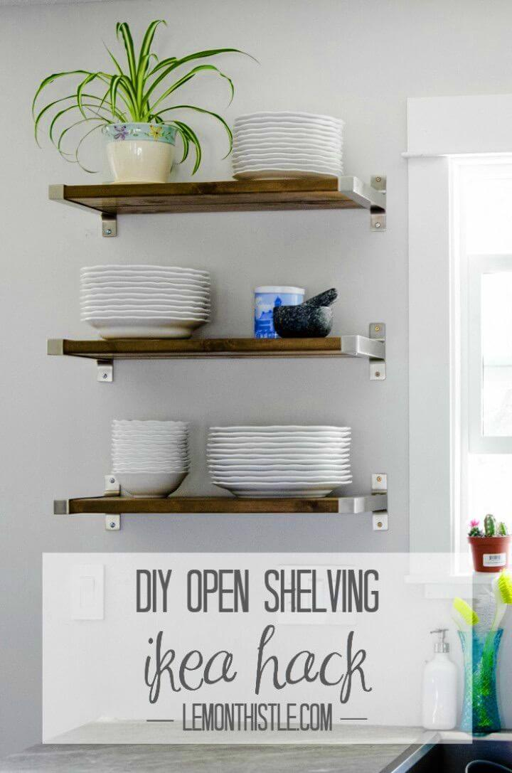 Easy DIY Open Shelving For Our Kitchen