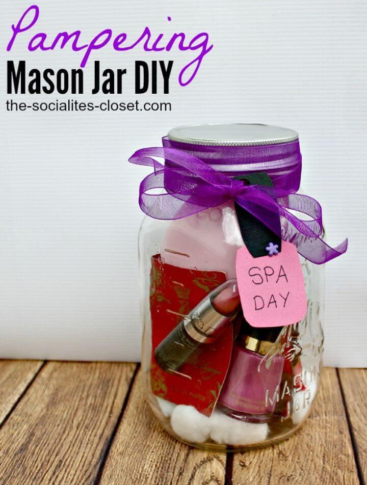 Easy DIY Pampering Mason Jar Gifts