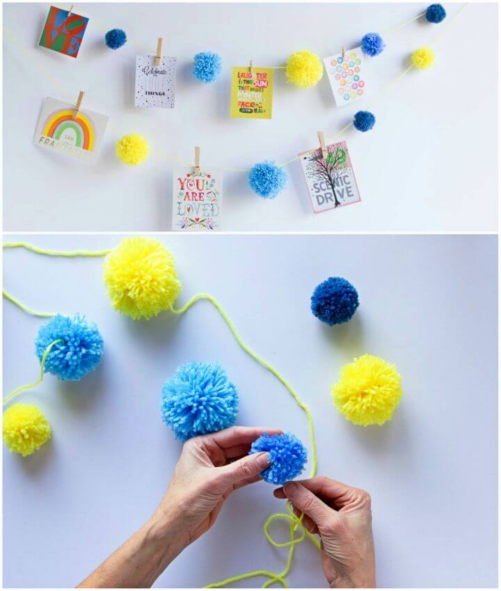 Easy DIY Pom Pom and Clothespin Garland