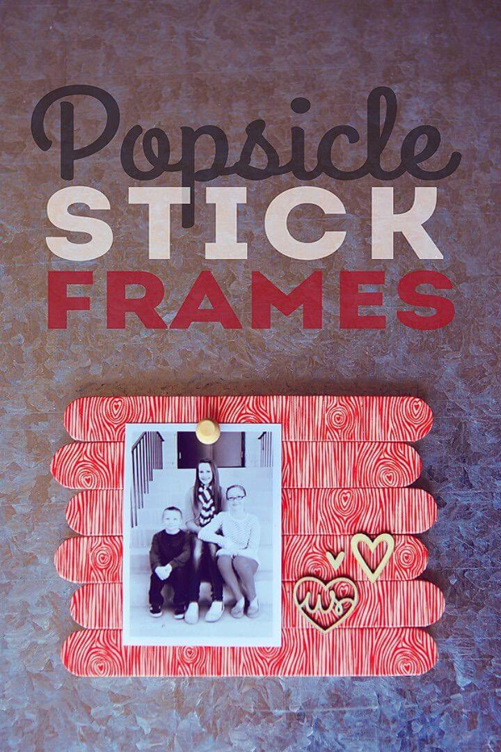 Easy DIY Popsicle Stick Frames