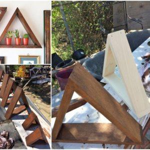 Easy DIY Wooden Triangle Shelves
