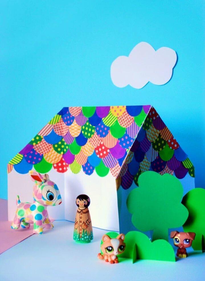 Easy DIY an Origami Doll House
