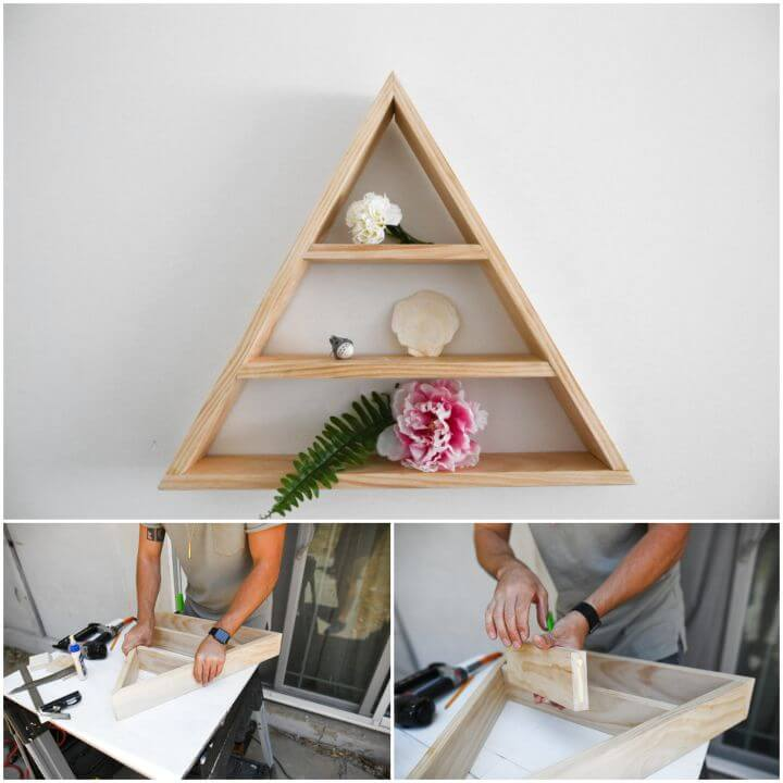 Easy and Quick DIY Triangle Shelf