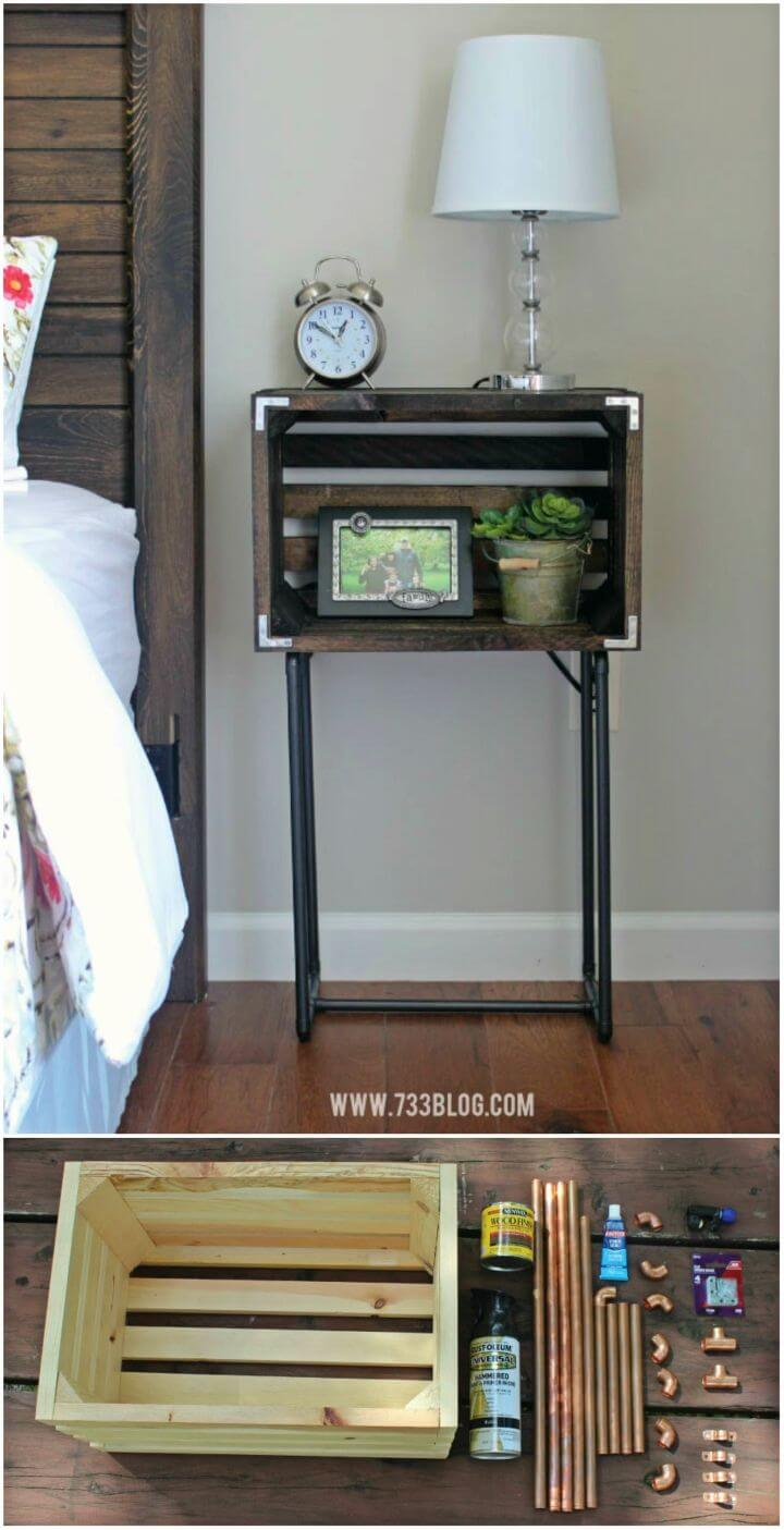 Easy to Make Crate Nightstands