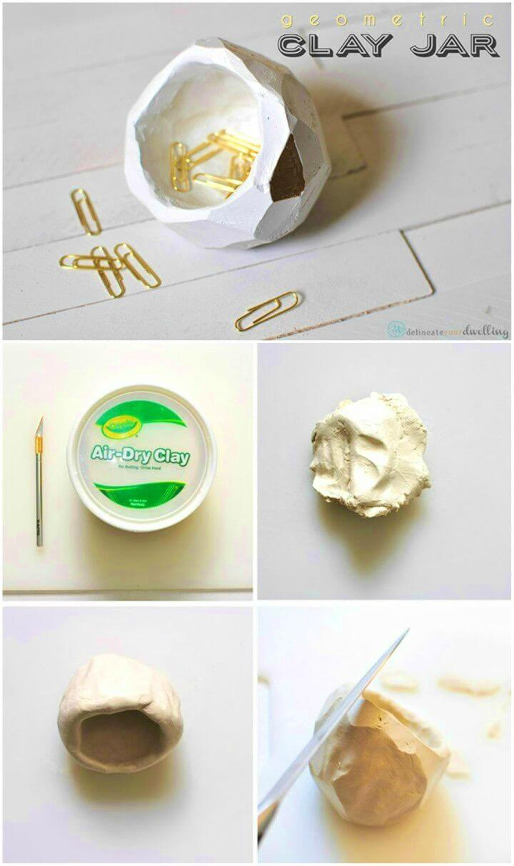 Easy to Make Geometric Clay Jar