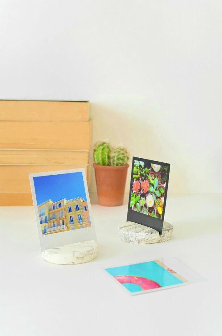 Easy to Make Marble Photo Holder