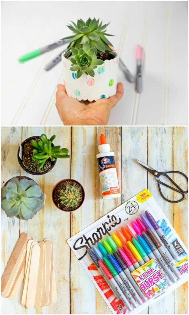 Easy to Make Popsicle Stick Planter