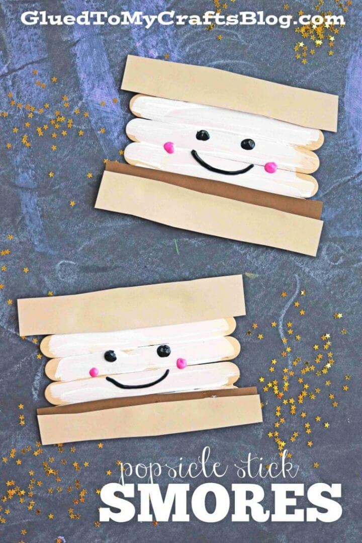 Easy to Make Popsicle Stick Smores